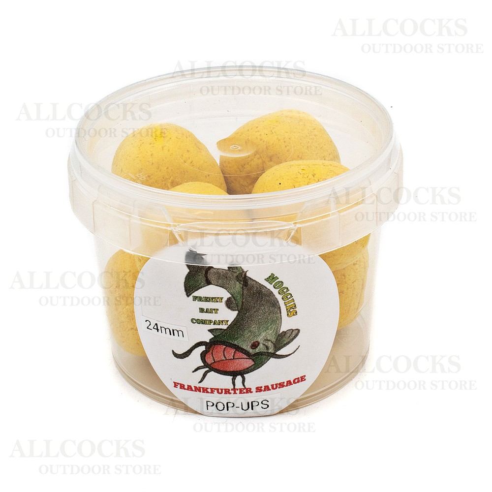Frenzy Bait Company Dumbell Pop Ups - Frankfurter Sausage - 24mm Yellow