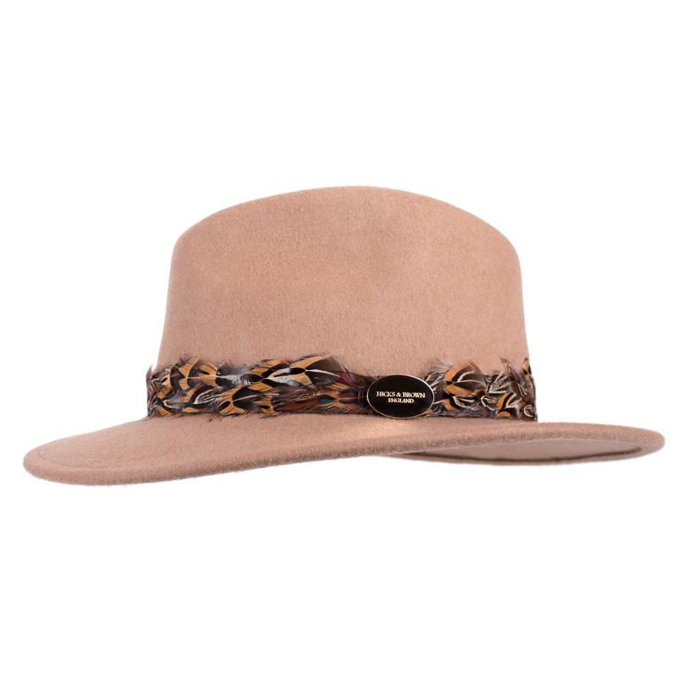 Hicks & Brown Suffolk Fedora Hat - Pheasant Feather Wrap
