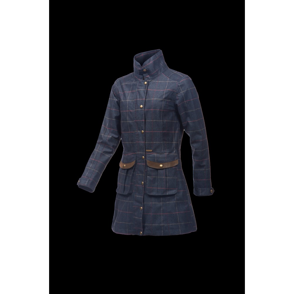 Baleno Darlington Ladies Printed Tweed Coat
