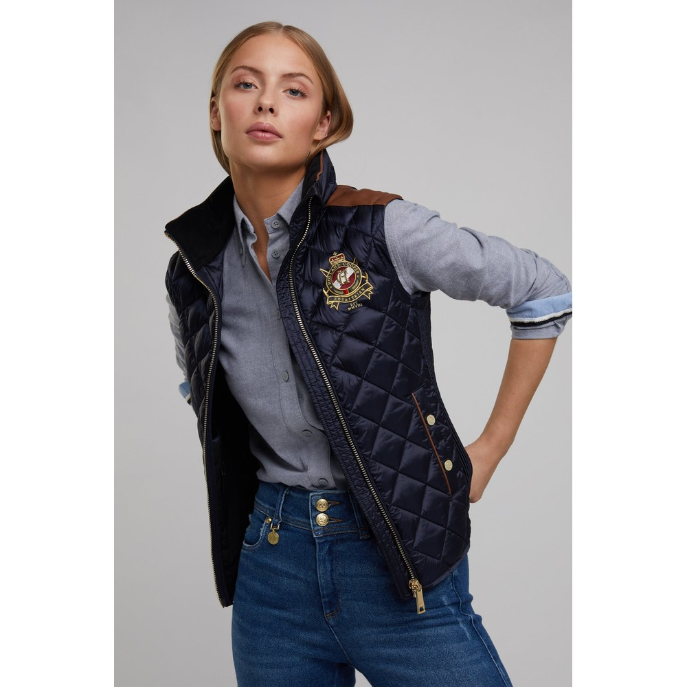 Holland Cooper Diamond Quilt Gilet Ink Navy