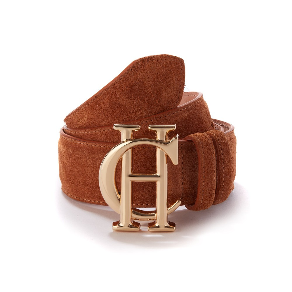Holland Cooper Suede Belt Tan