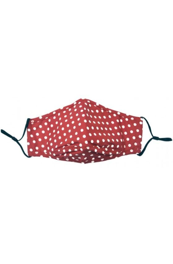 Allcocks Cotton Face Mask - Polka Red