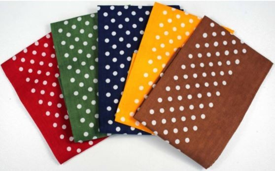 Allcocks Country Cotton Hankies - Box of 5 - Spotted Multi