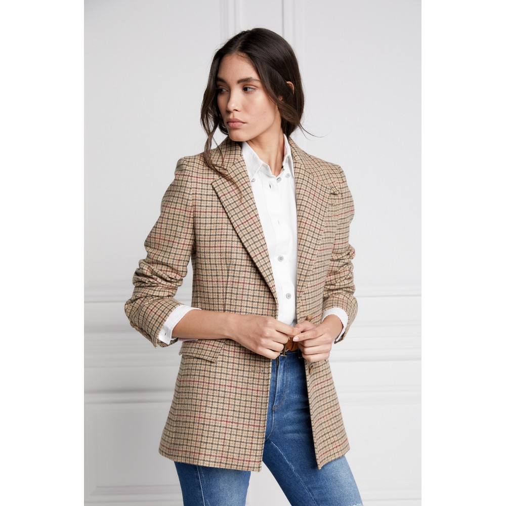 Holland Cooper Single Breasted Blazer Charlton Tweed