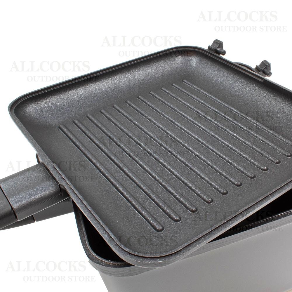 RidgeMonkey Connect Multi-Purpose Pan & Griddle Set Gunmetal Grey