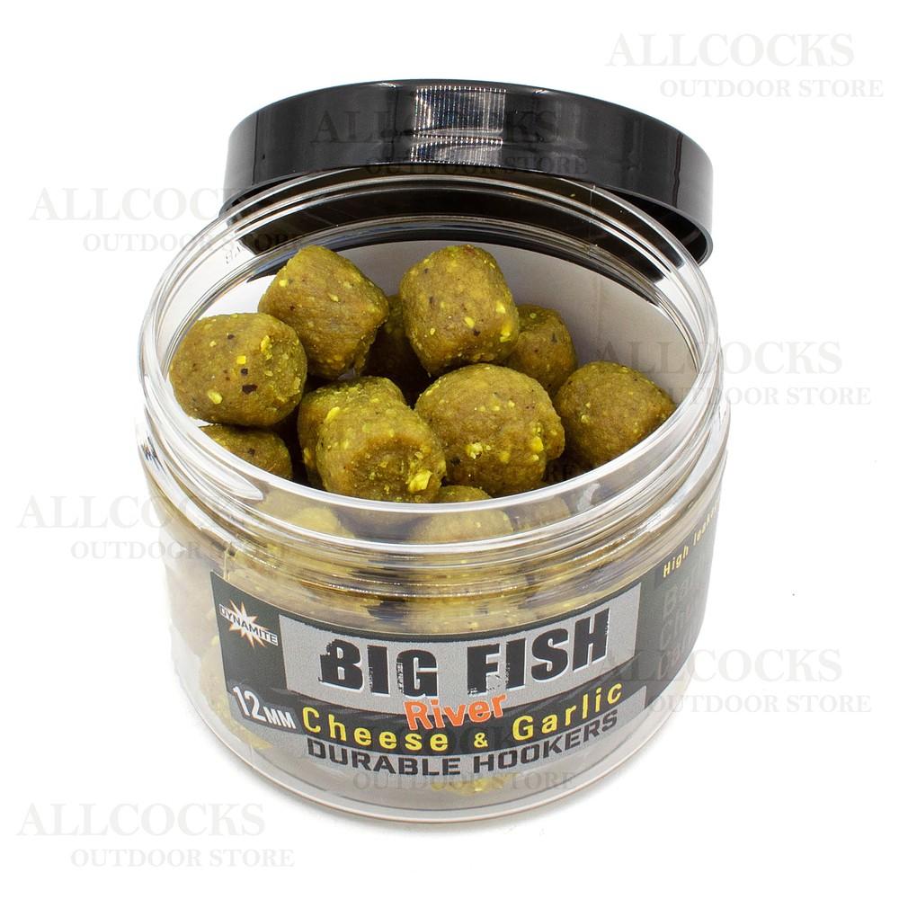 Dynamite Baits Big Fish River Durable Hook Pellets - Cheese & Garlic - 12mm Yellow