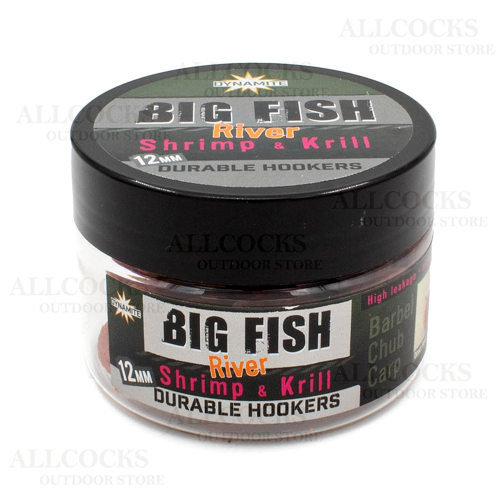 Dynamite Baits Big Fish River Durable Hook Pellets - Shrimp & Krill - 12mm