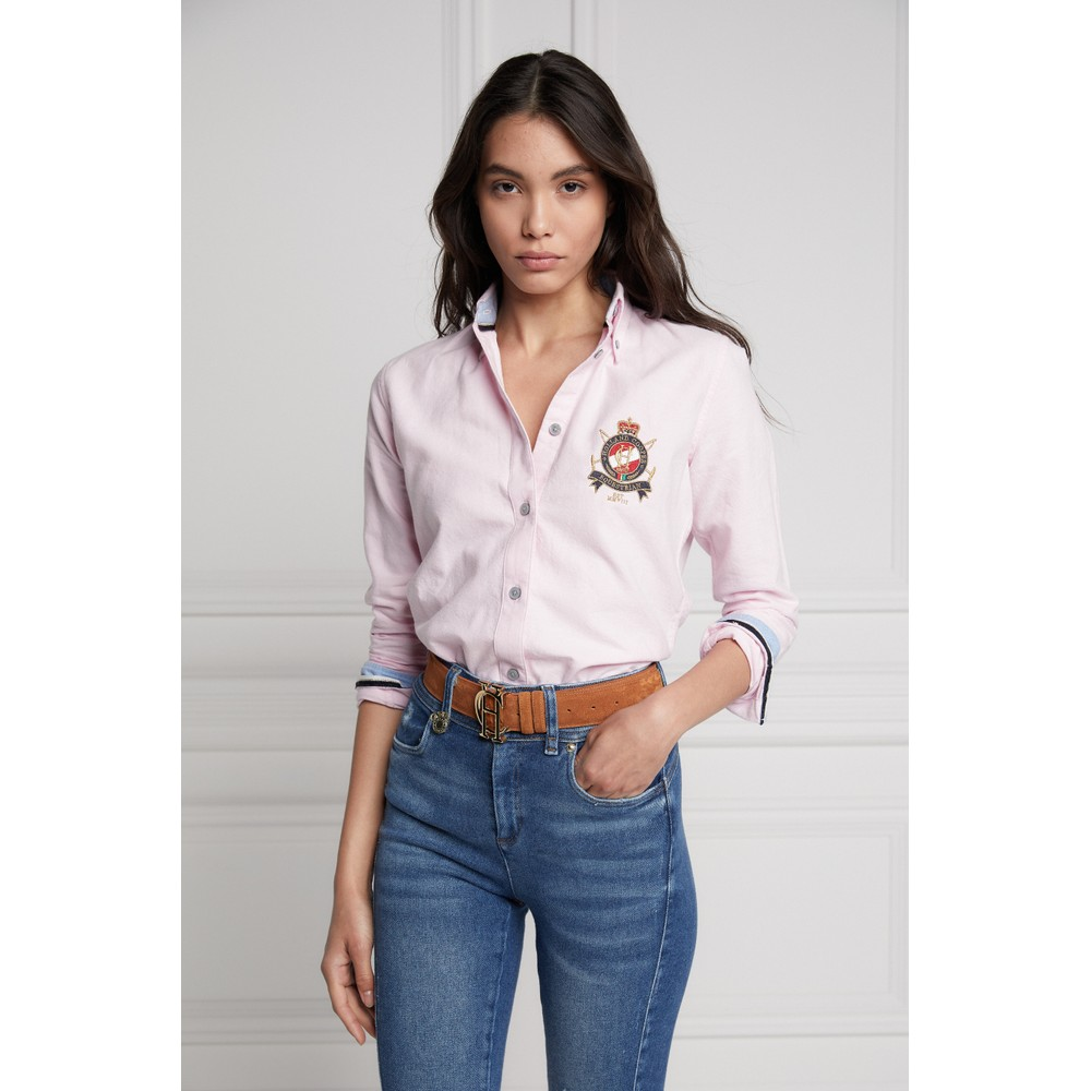 Holland Cooper Classic Oxford Shirt Ice Pink