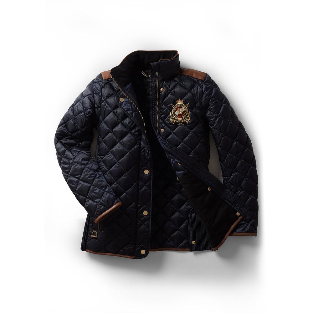 Holland Cooper Diamond Quilt Jacket Ink Navy