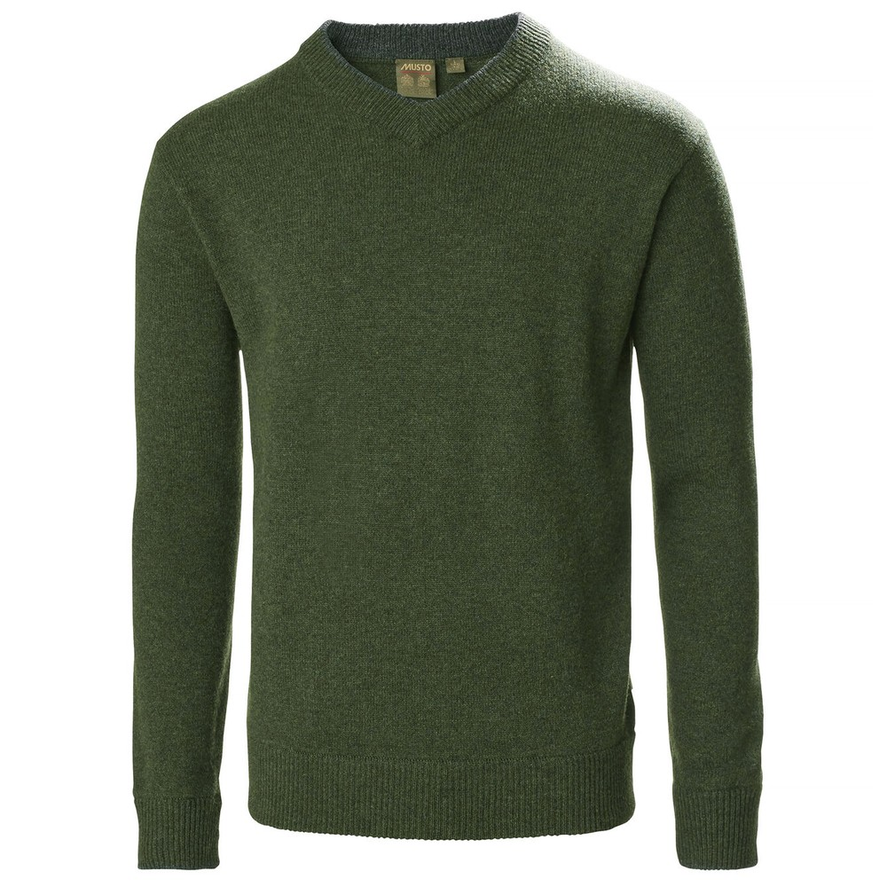 Musto Country V-Neck Knit Rifle Green