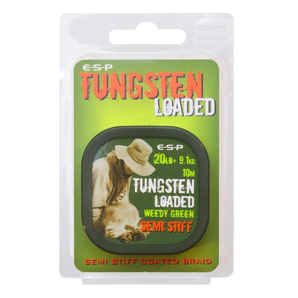 ESP Tungsten Loaded Coated Braid - 20lb - 10m Weedy Green