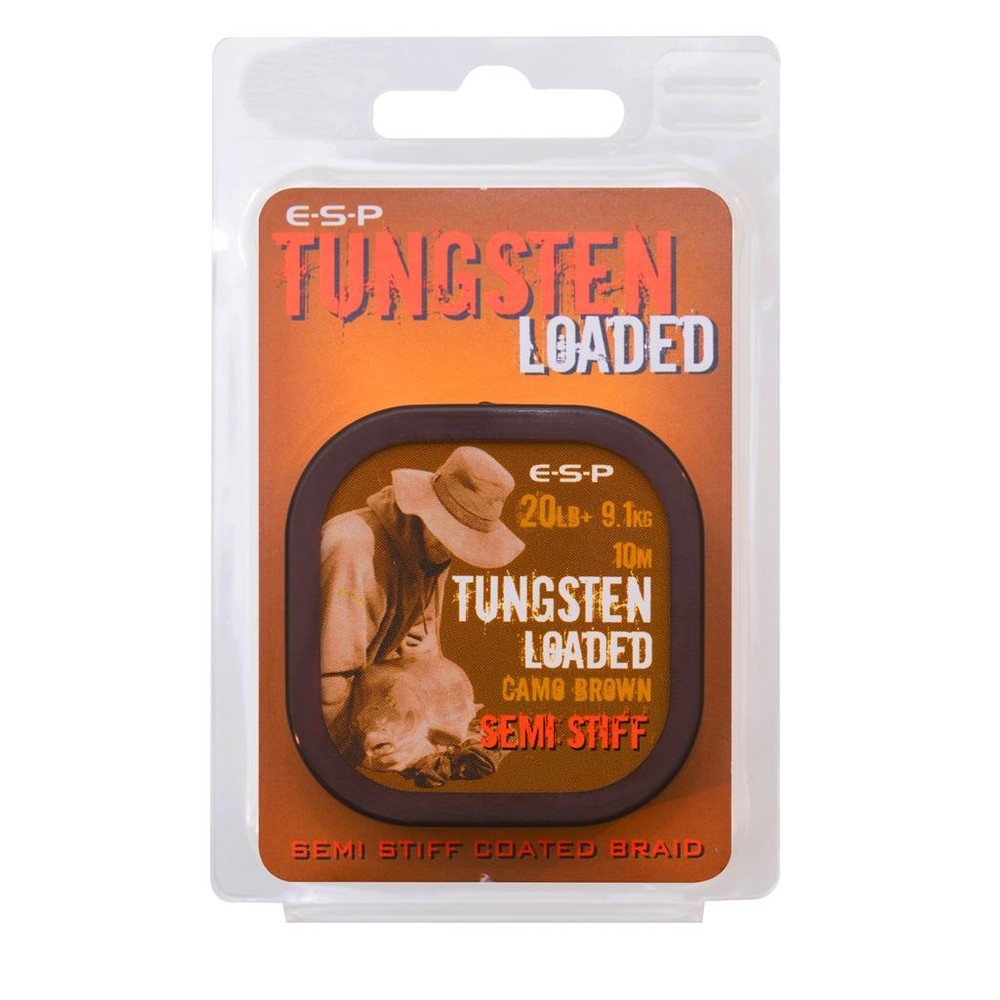 ESP Tungsten Loaded Coated Braid - 20lb - 10m Camo Brown