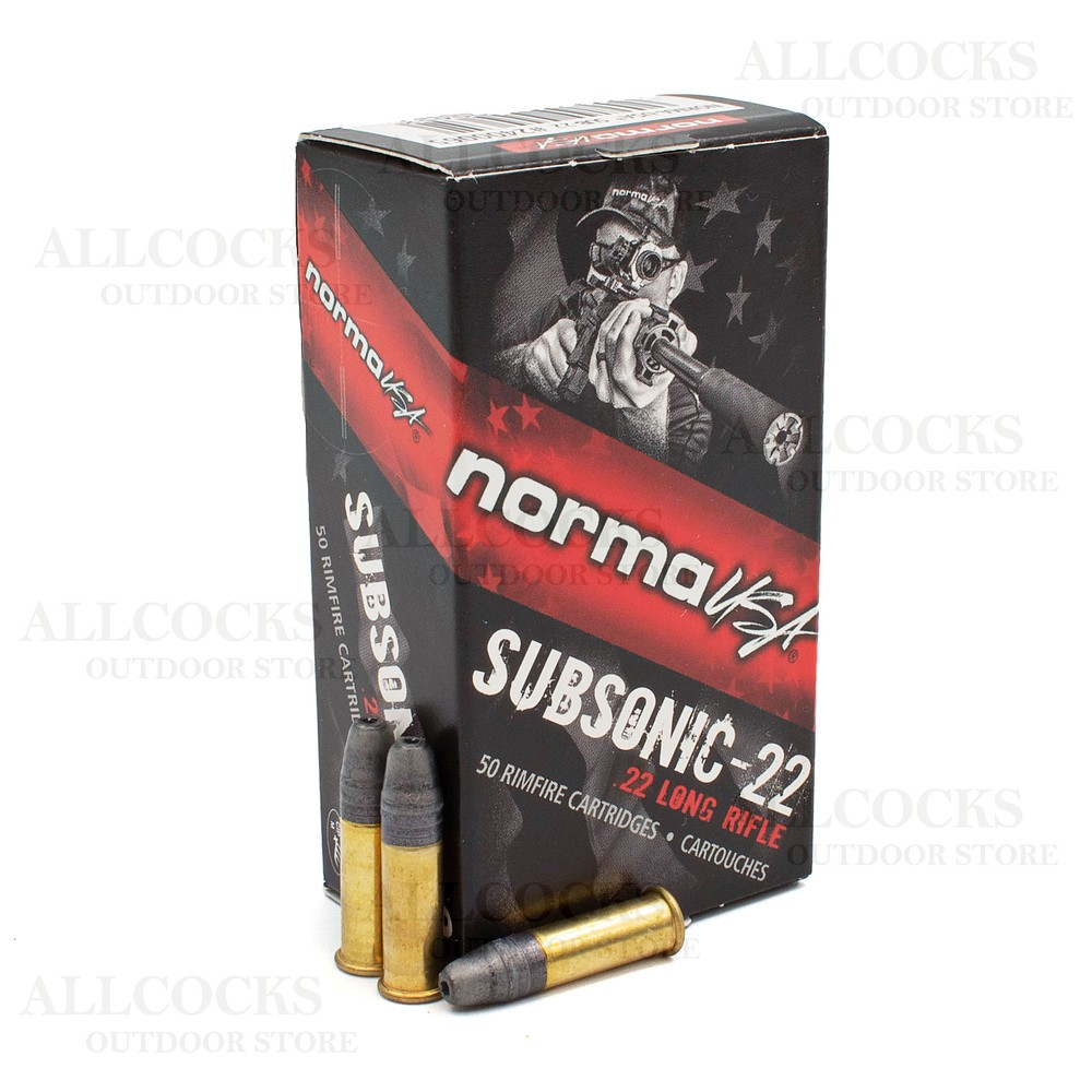 Norma .22LR Ammunition - 40gr - Subsonic HP Black/Red