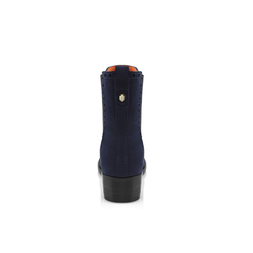 Fairfax & Favor Brogued Chelsea Ladies Boot Navy