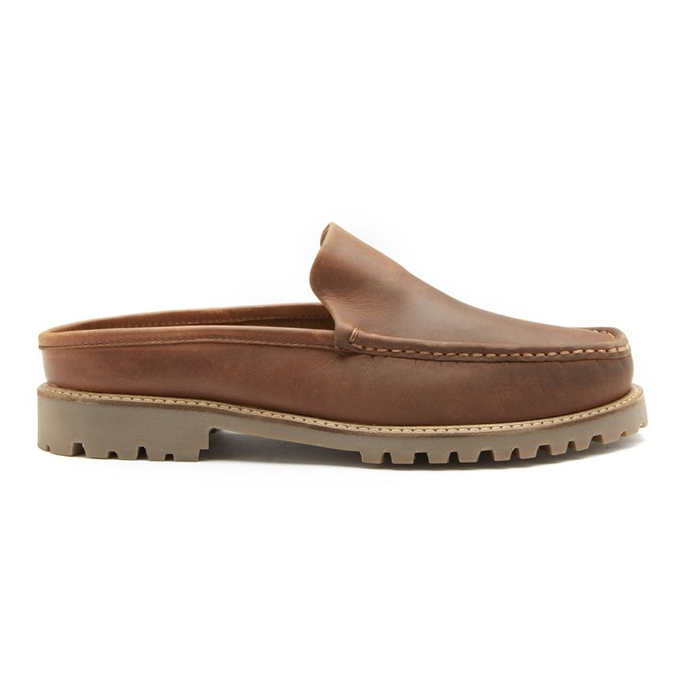 Chatham Hart Leather Mules Tan