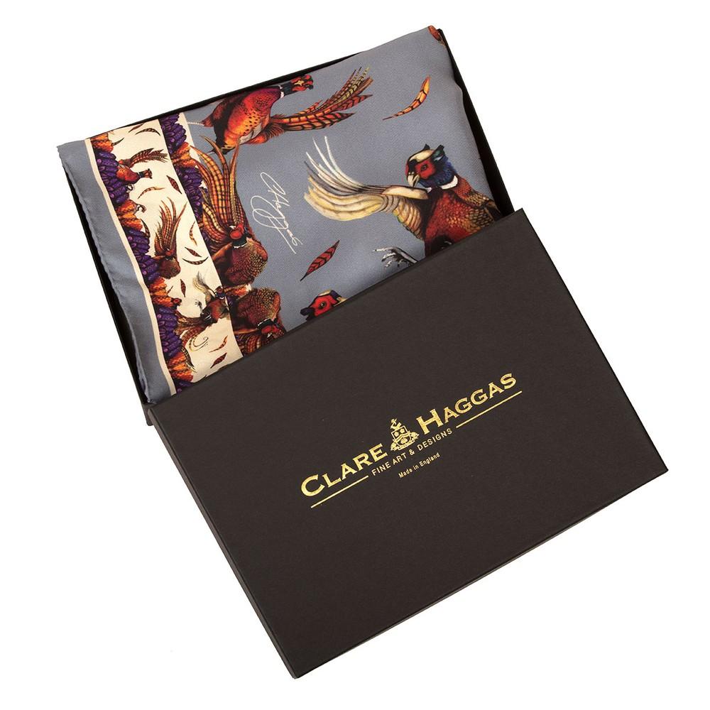 Clare Haggas George & Friends Classic Silk Scarf Pigeon