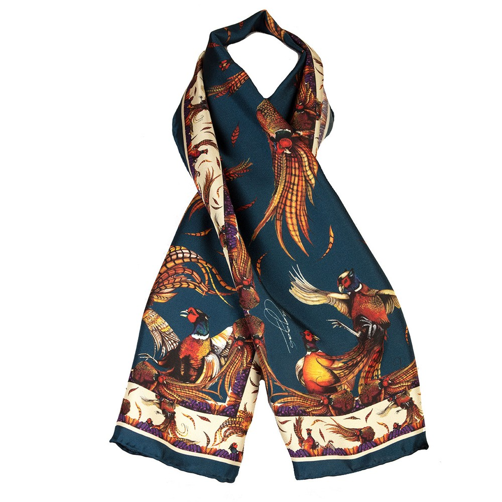 Clare Haggas George & Friends Narrow Silk Scarf