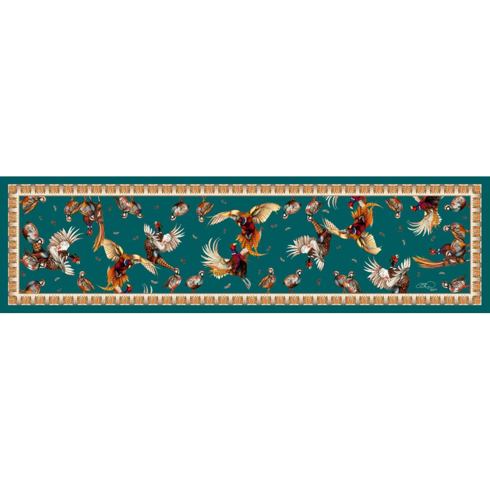Clare Haggas Tantalising Classic Silk Scarf Teal
