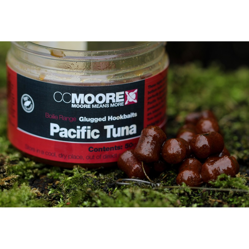 CC Moore Pacific Tuna Glugged Hookbaits 10x14mm Red/Brown