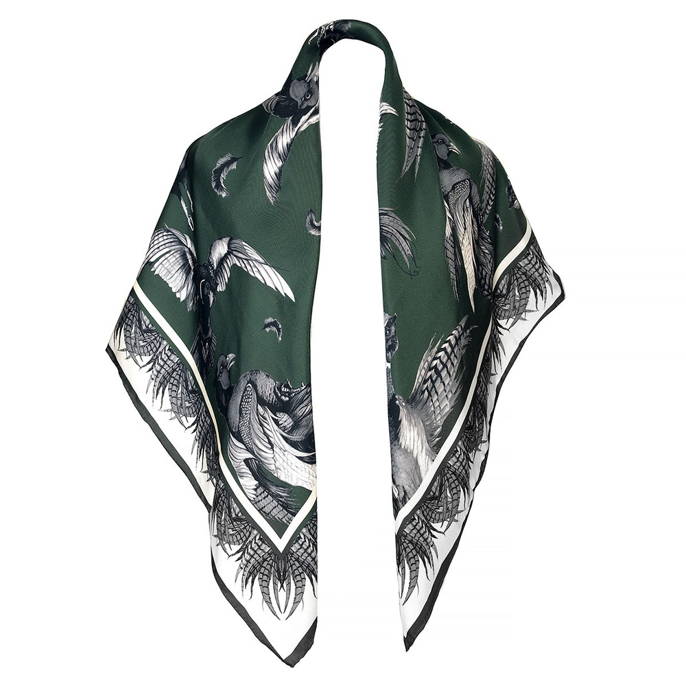 Clare Haggas Turf War Signature Large Silk Scarf