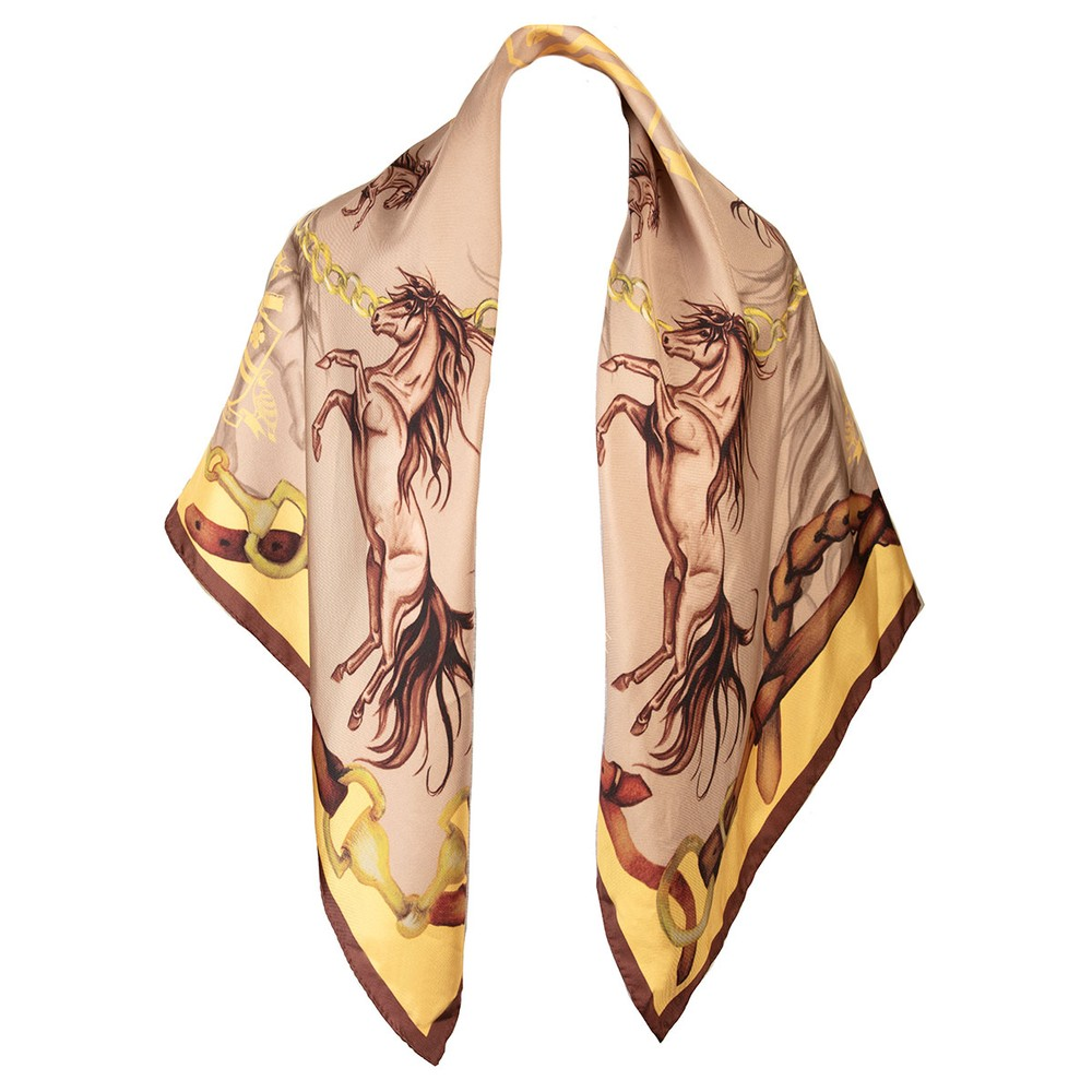 Clare Haggas Clare Haggas Hold Your Horses Large Silk Scarf