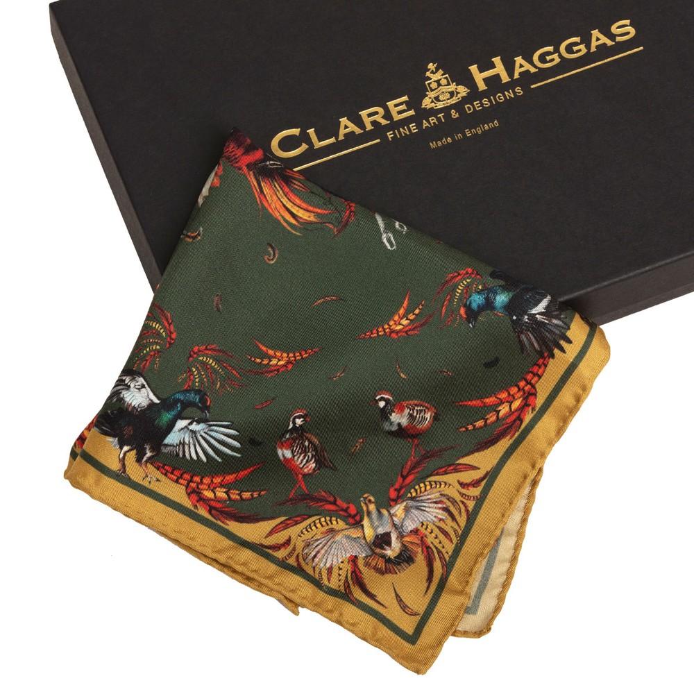 Clare Haggas High Flyer Silk Pocket Square