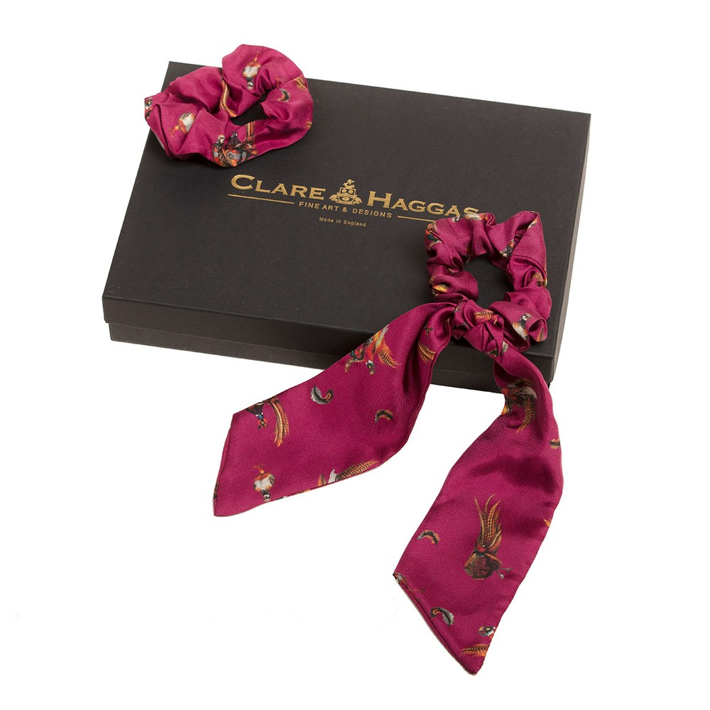 Clare Haggas Game Silk Scrunchie - Medium Tail