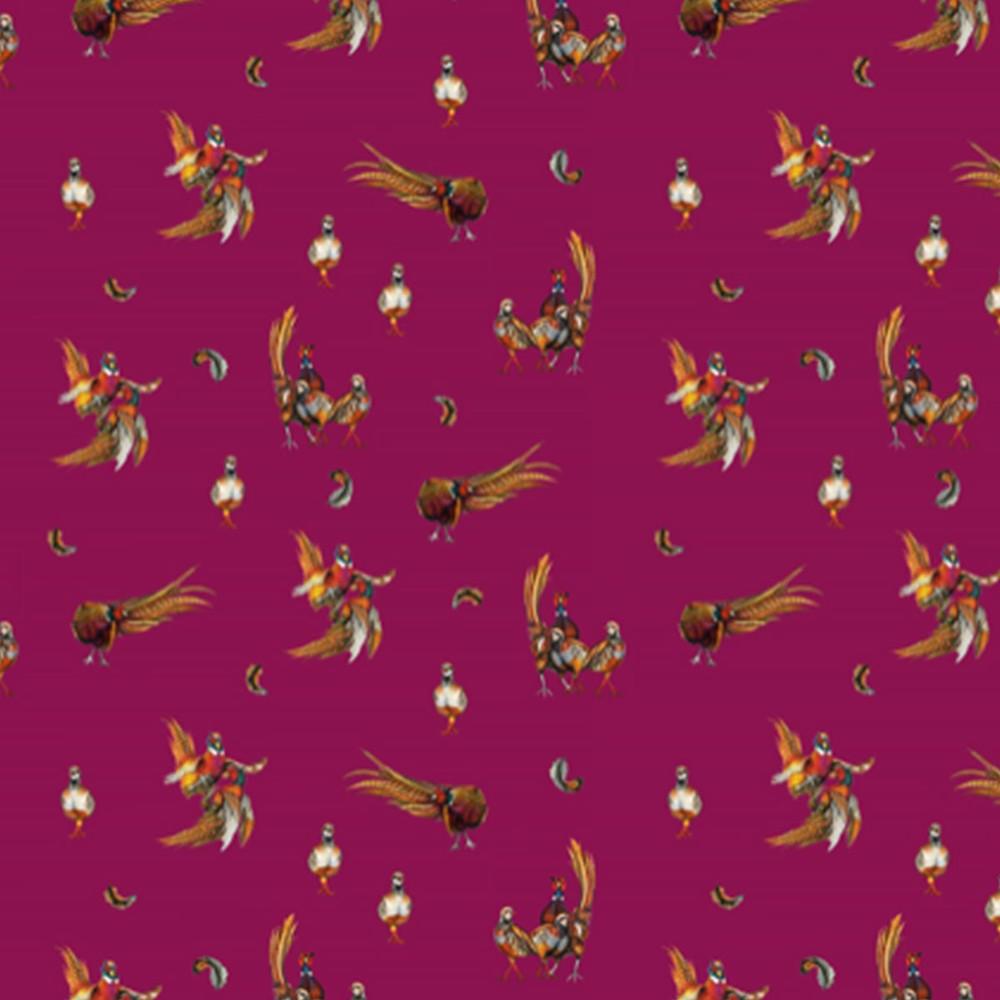 Clare Haggas Game Silk Scrunchie - Medium Tail Mulberry