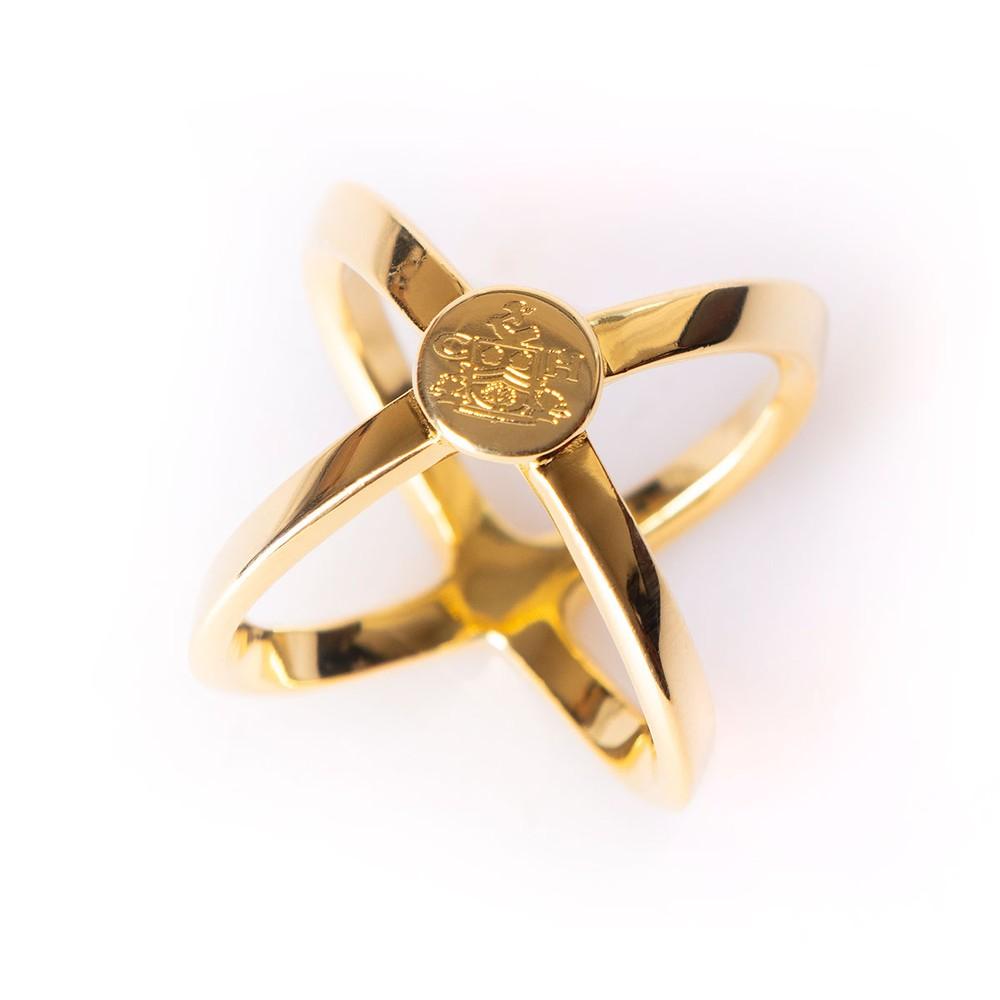 Clare Haggas Scarf Ring Gold