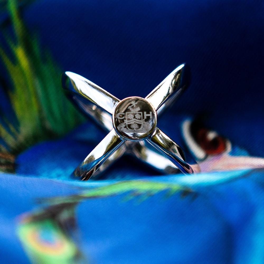 Clare Haggas Scarf Ring Silver