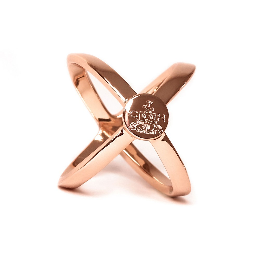 Clare Haggas Scarf Ring Rose Gold