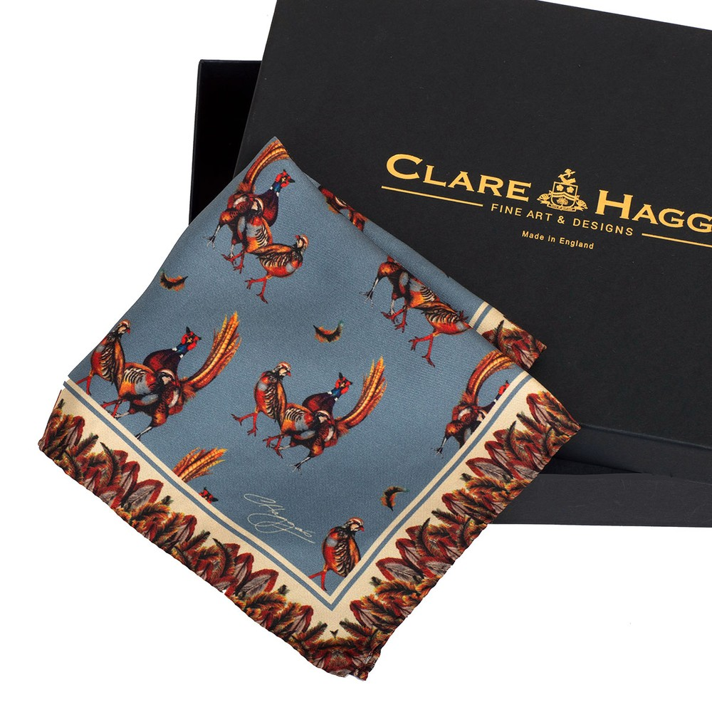 Clare Haggas Odd One Out Silk Pocket Square