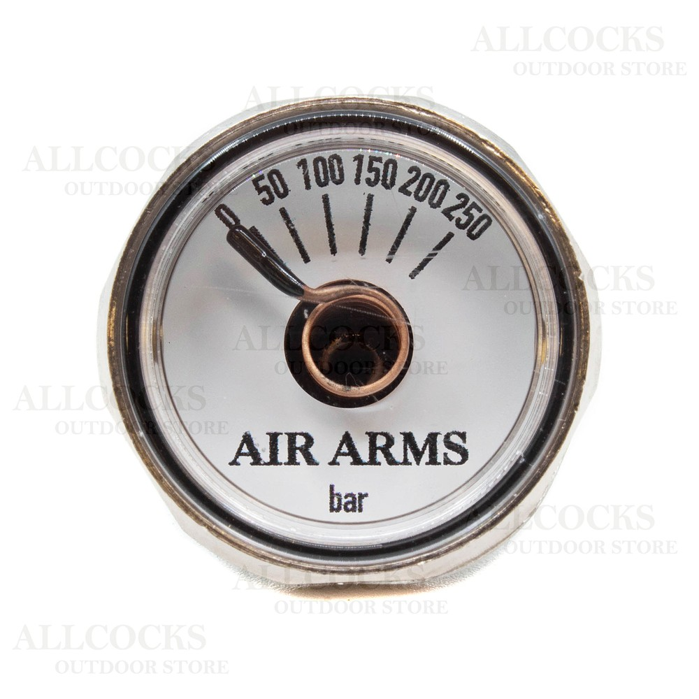 Air Arms Pressure Gauge White