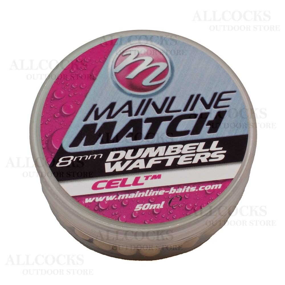 Mainline Baits Match Dumbell Wafters - 8mm - White - Cell White
