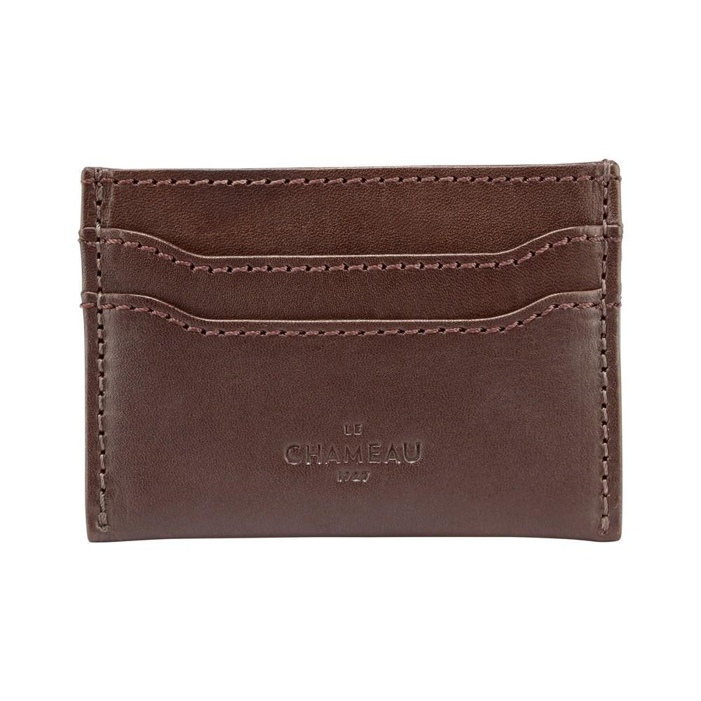Le Chameau Card Wallet Marron Foncé
