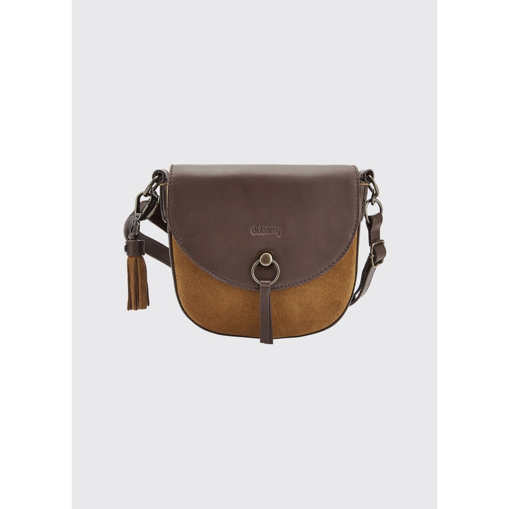 Dubarry Crossgar Small Suede Cross-Body Saddle Bag
