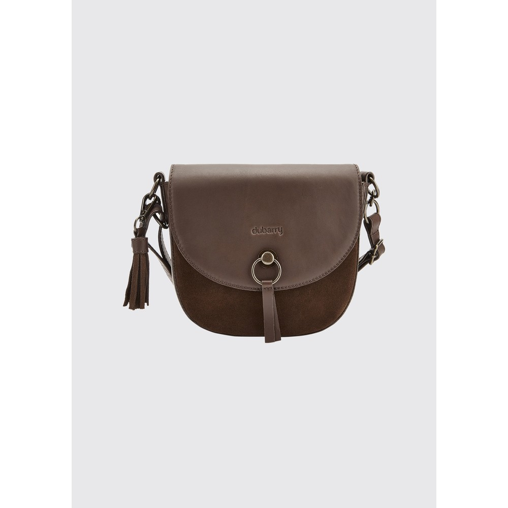 Dubarry Dubarry Crossgar Small Suede Cross-Body Saddle Bag