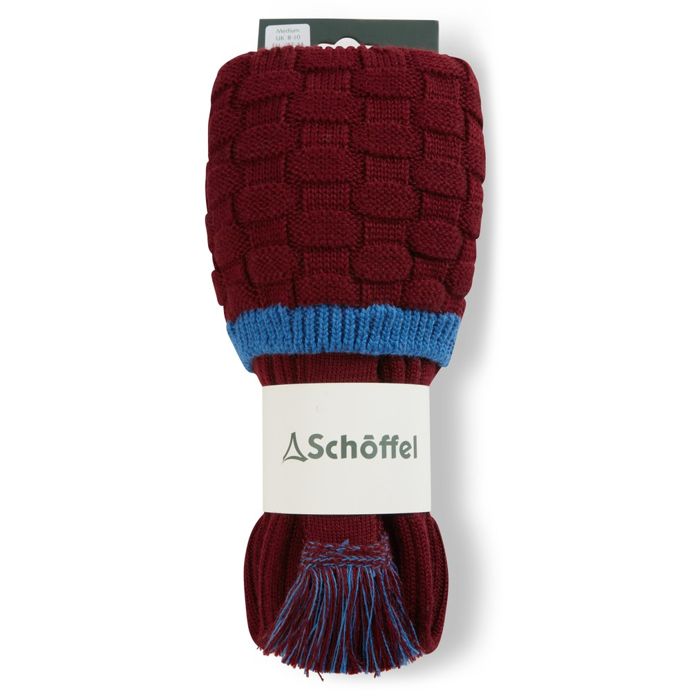 Schoffel Teigh Sock Claret/Sea Blue