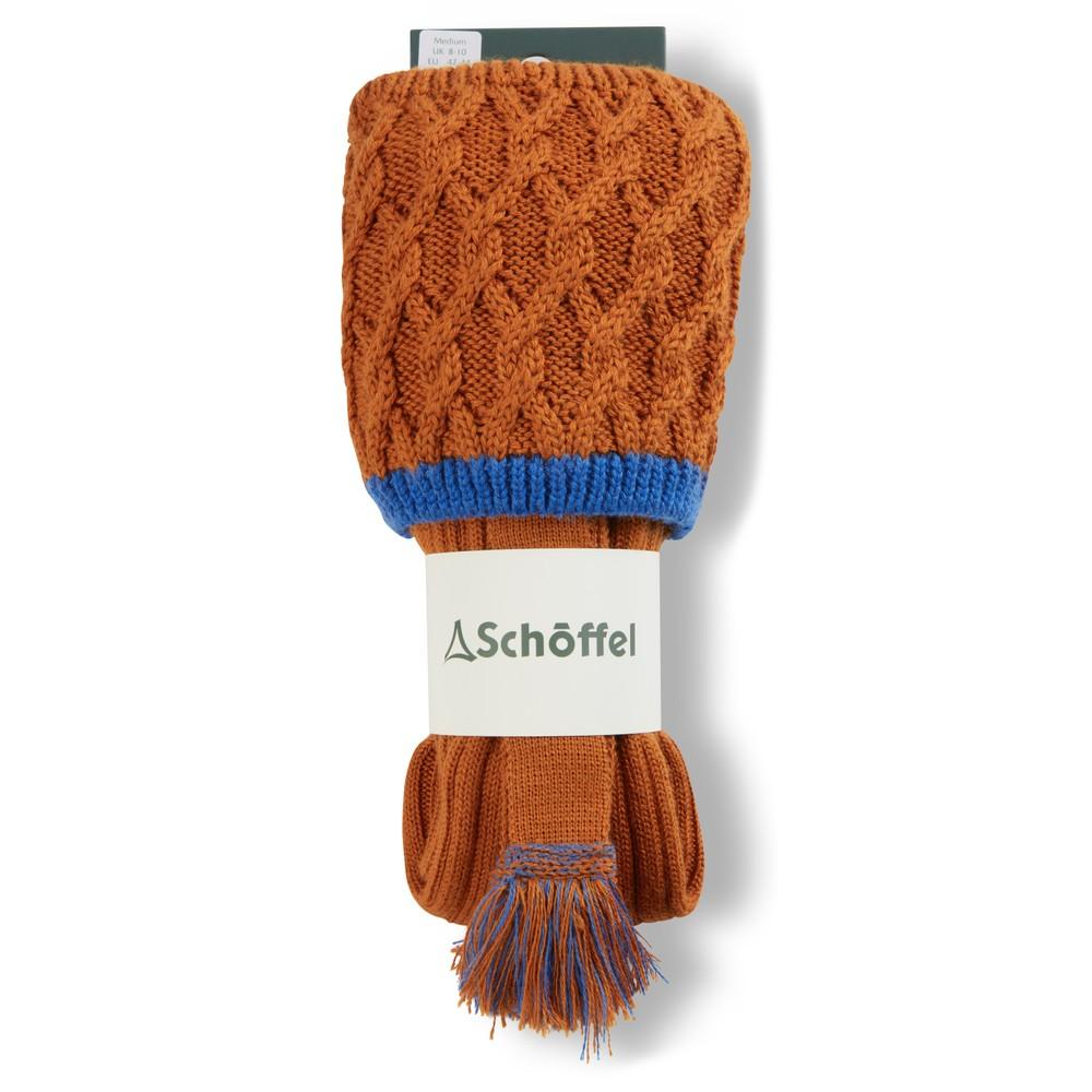 Schoffel Lattice Sock Burnt Orange/Sea Blue