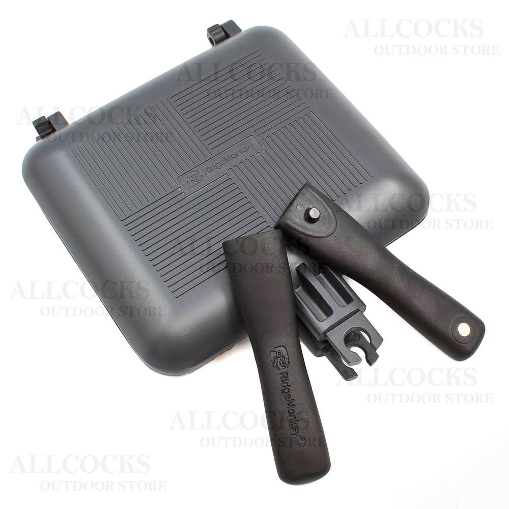 RidgeMonkey Connect Compact Sandwich Toaster - XL Gunmetal Grey