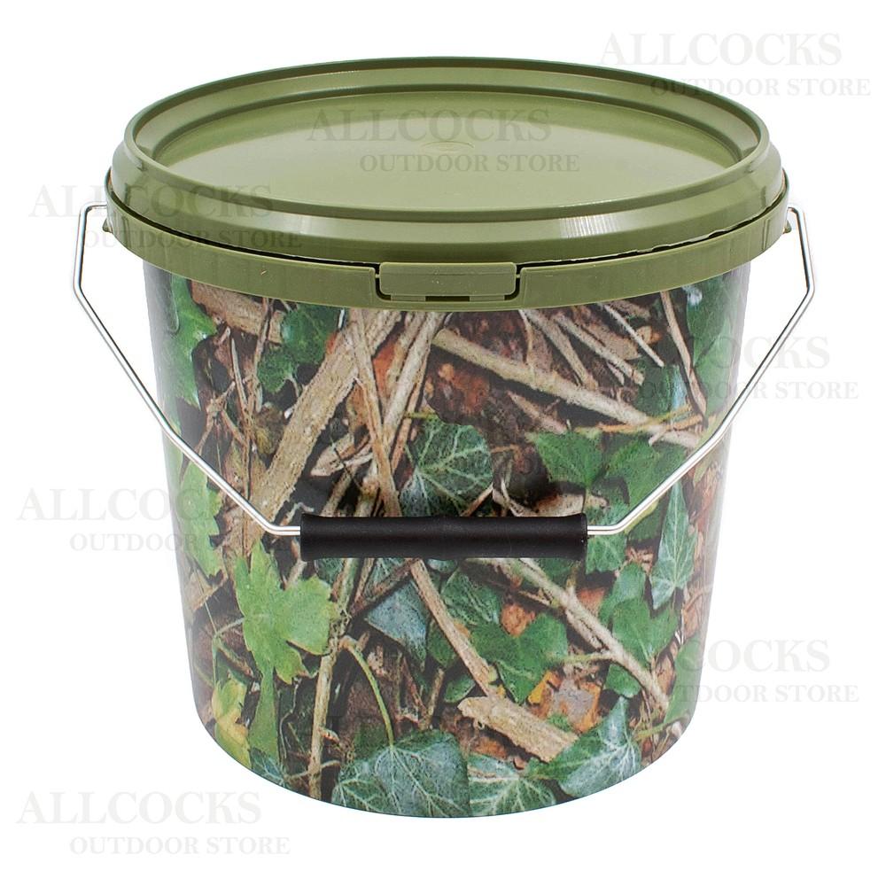 Lemco Round Camo Bucket & Lid