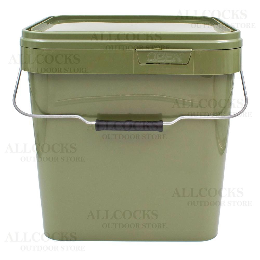 Lemco Square Green Bucket & Lid
