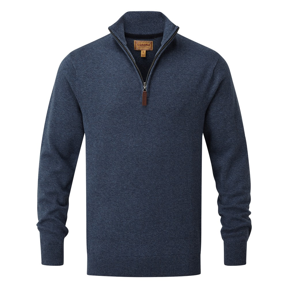 Schoffel Cotton Cashmere 1/4 Zip Jumper
