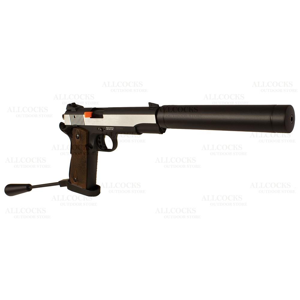 GSG 1911 Long Barrel Pistol - Wood Grips - .22LR Stainless