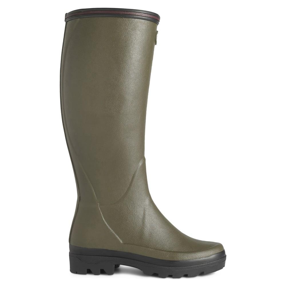 Le Chameau Giverny Jersey Lined Women's Wellington Boots Vert Chameau