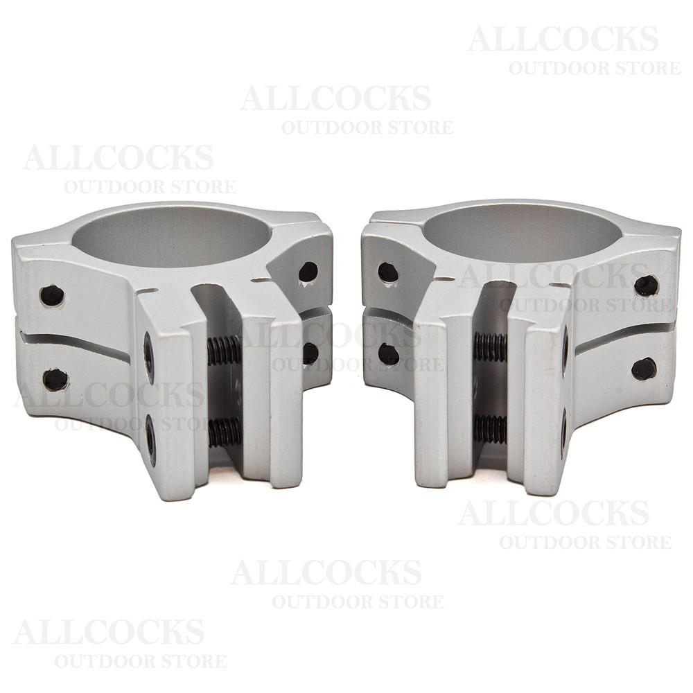 BKL Double Strap Scope Mounts - 9-11mm Dovetail - 30mm Medium Stainless
