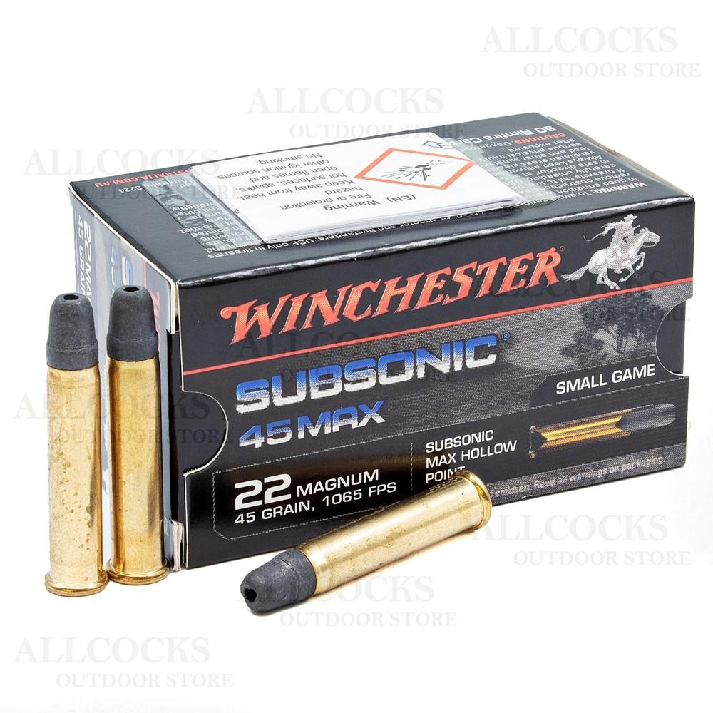 Winchester .22WMR Ammunition - 45gr - Subsonic Hollow Point