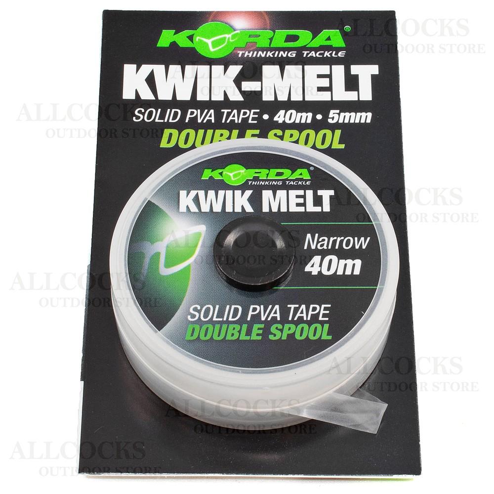 Korda Kwik-Melt Double PVA Tape 40mtr - (5mm Narrow)