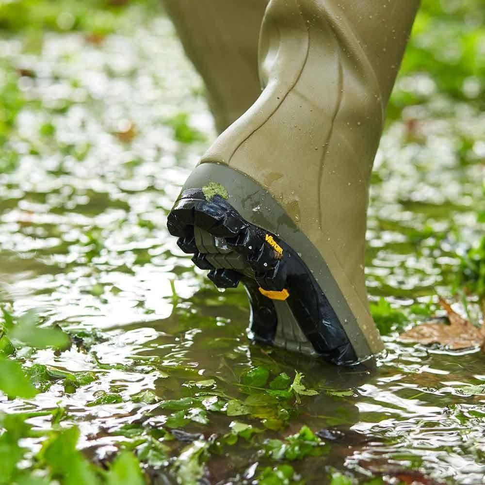Le Chameau Country Vibram Jersey Lined Women's Wellington Boots Vert Vierzon