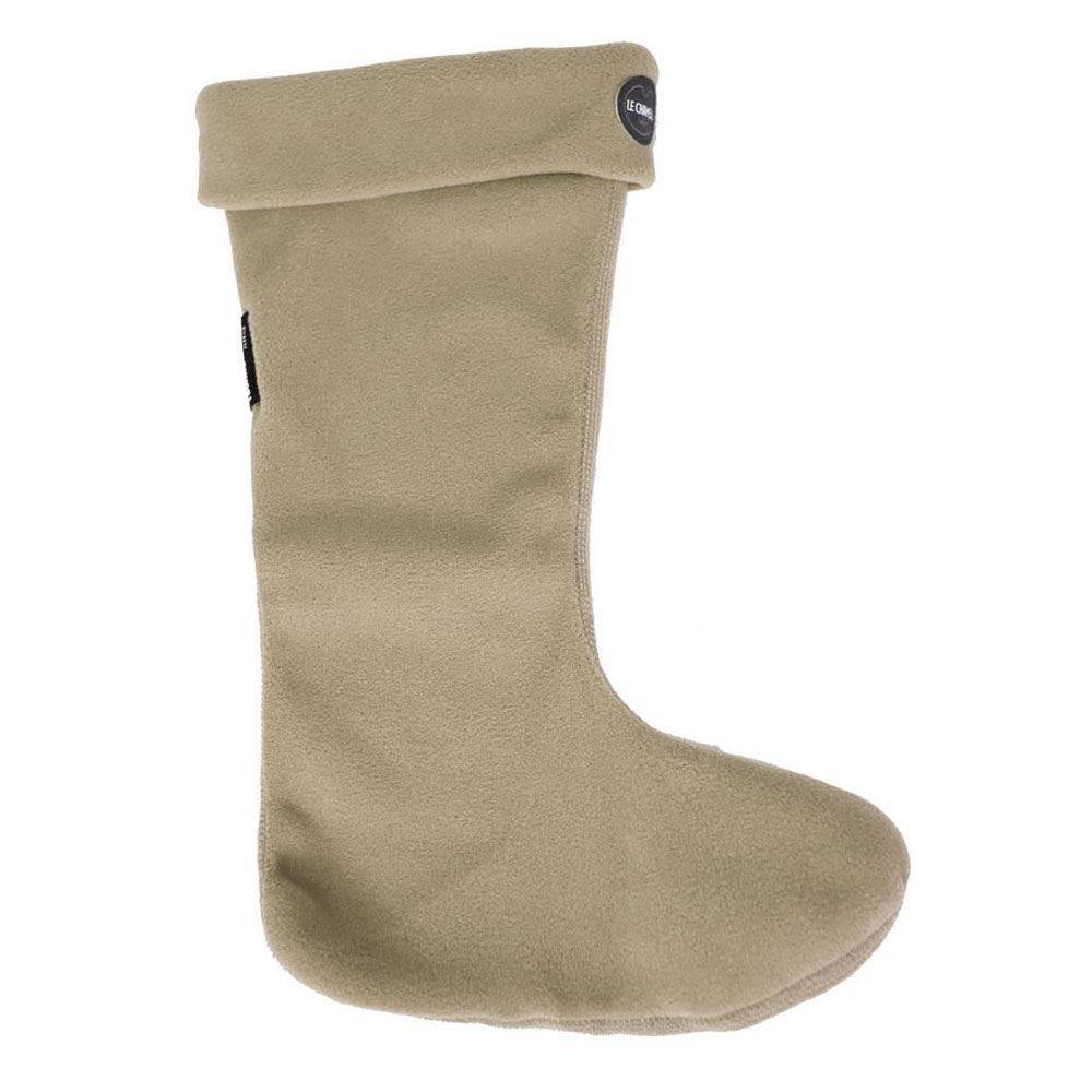 Le Chameau Iris Polaire Fleece Socks - UK 2 - UK 3 Beige